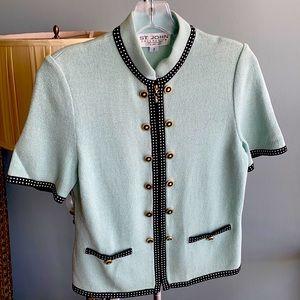 St. John mint green jacket size 2